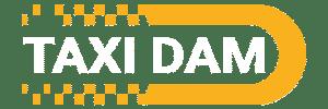 Logo TAXI DAM - Wit_Tekengebied 1 kopie
